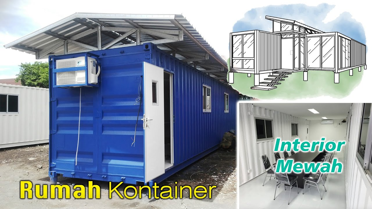 Awesome House Made From Shipping Container Surabaya Indonesia Youtube