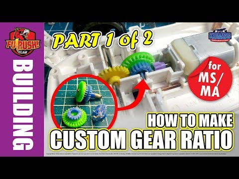 ミニ四駆 Street Mini 4WD - PART 1 of 2 Making Custom Gear Ratio