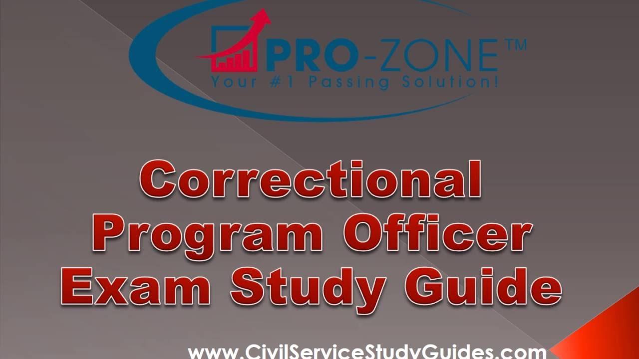 Correctional Program Officer Exam Study Guide