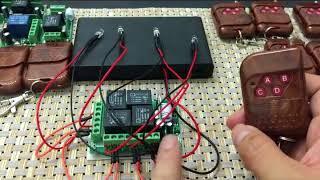 Пульт дистанційного керування 4 каналу 433 МГц DC12V АК-RK04S