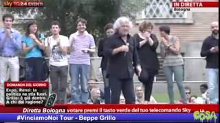 Grillo a Bologna, integrale #VinciamoNoi Tour