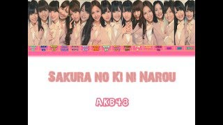 Gambar cover AKB48 sakura no ki ni narou LYRICS
