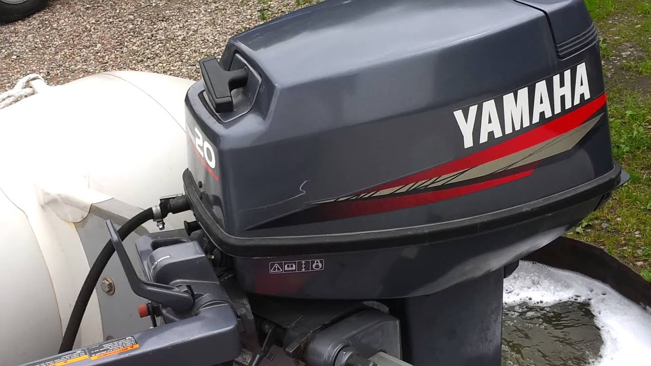 Yamaha 20 hp outboard motor 2004r 2 stroke dwusuw youtube for 25hp yamaha 2 stroke