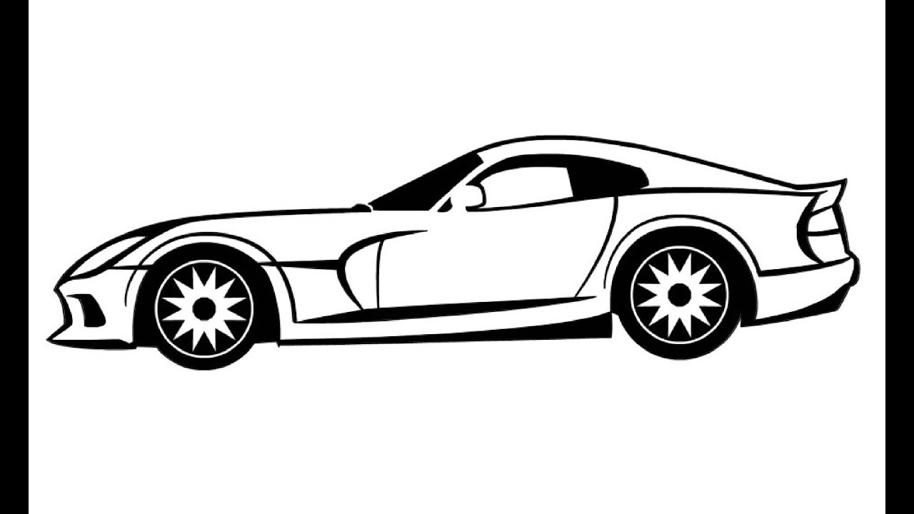 how to draw dodge viper