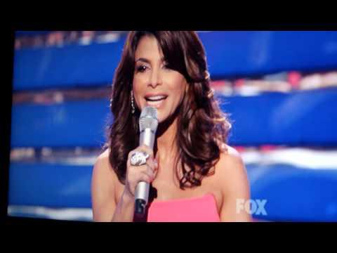 Paula Abdul says Goodbye to Simon Cowell on American Idol.