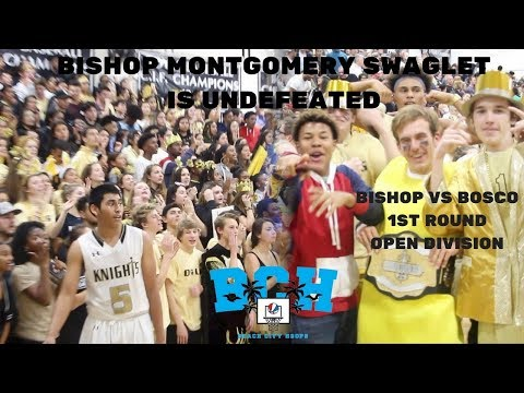 Student Sections At WAR! Bishop Montgomery vs Bosco 1st Round of Open Division!!!