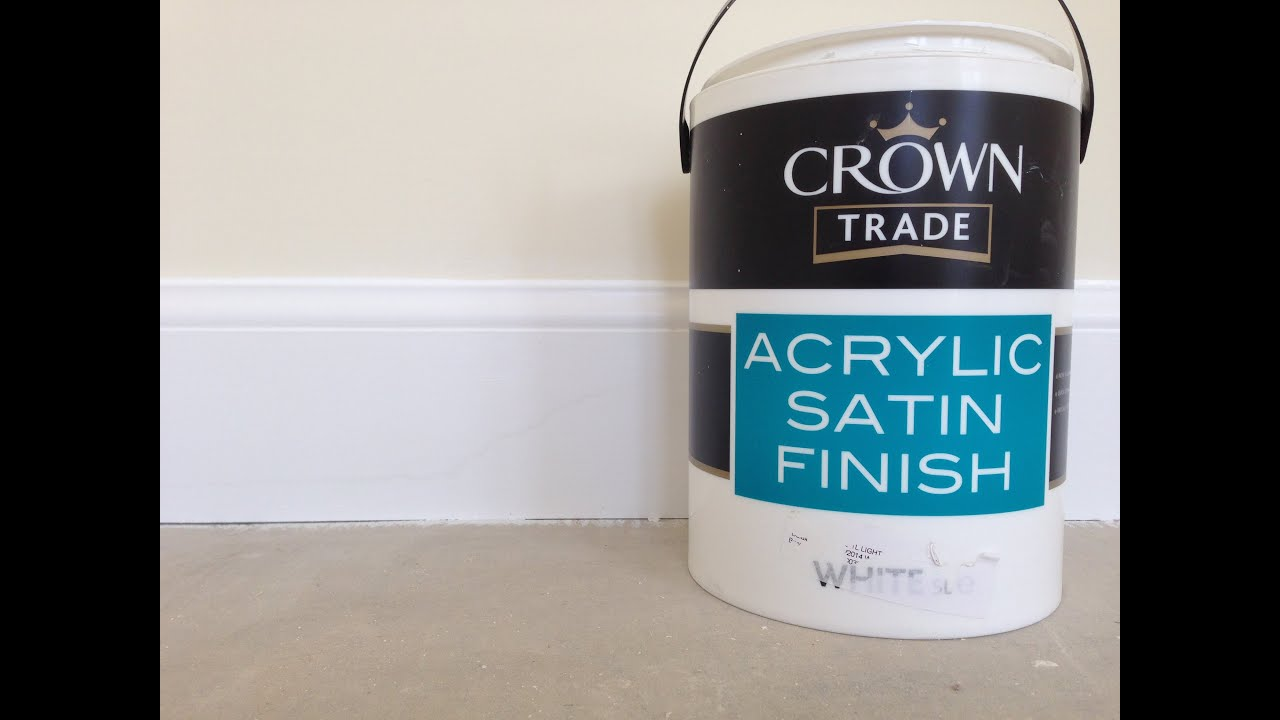Painting decorating acrylic satin finish water base - What is satin paint ...