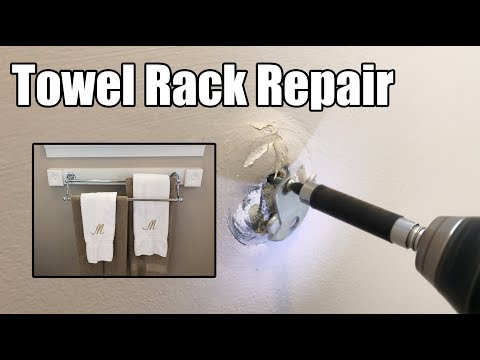 DIY Bathroom Towel Rack Repair