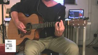 """Numb"", Acoustic Guitar with original vocals, How to play, Linkin Park"