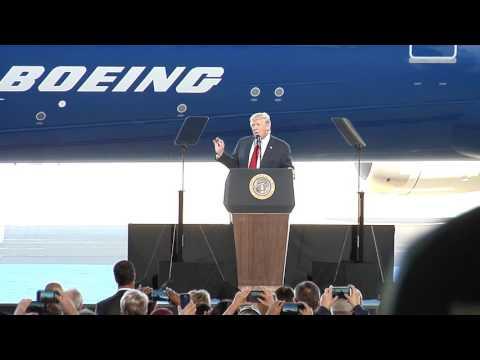 President Donald Trump at Boeing South Carolina