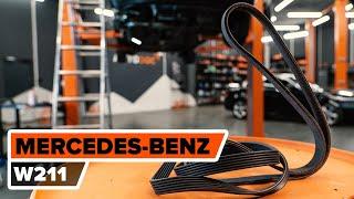 Как се сменя Многоклинов(пистов) ремък на MERCEDES-BENZ E-CLASS (W211) - видео ръководство