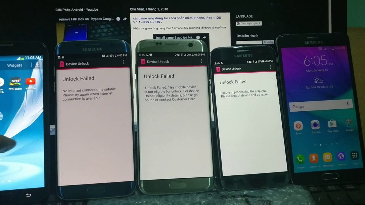 unlock sim network all Samsung Galaxy T-mobile bypass Device