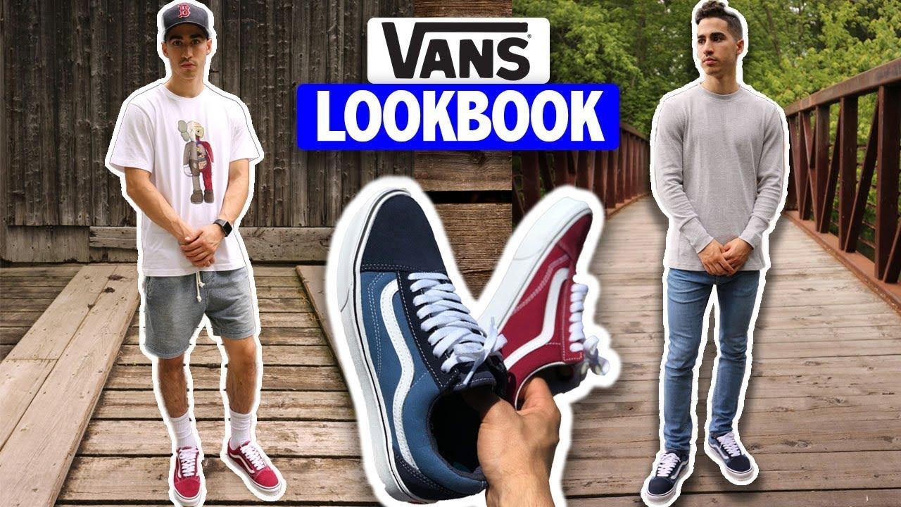al revés Inocencia sección  HOW TO STYLE: Vans (Outfit Ideas) - YouTube