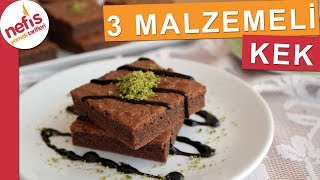 SADECE 3 Malzeme ile Kek Tarifi - Yumuşacık lezzetli bir kek