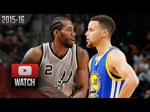 Kawhi Leonard vs Stephen Curry EPIC Battle Highlights (2016.03.19) Spurs vs Warriors - WCF Preview?