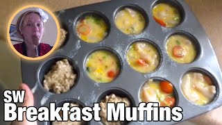 Slimming World Recipes:  breakfast egg muffins and Weetabix cakes