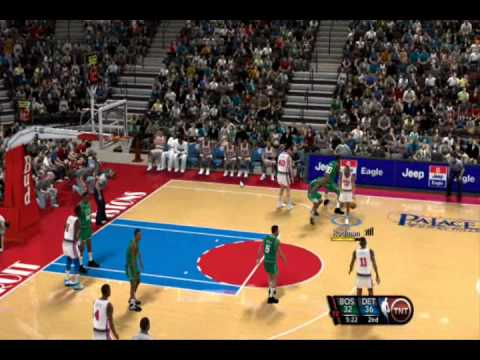 NBA 2k10 PC Gameplay 1991-92 Season Mod by aloncho11- (Celtics @ Pistons)