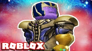 THANOS VS SUPERMAN! BECOMING THANOS | Roblox Super Hero Tycoon