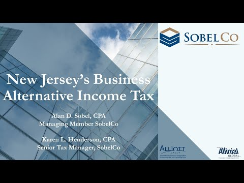 New Jersey's Business Alternative Income Tax