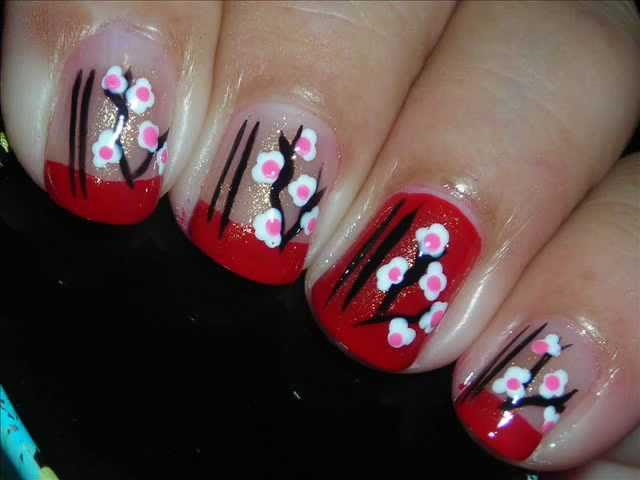 Nail Art - Asian Paper Lantern - Decoración de Uñas Travel Video