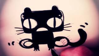 How To Draw A Cartoon Gothic Cat By Garbi KW (Kawaii Draw)
