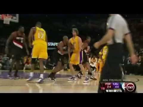 2008-09 NBA Season:Lakers VS Blazers [HD]