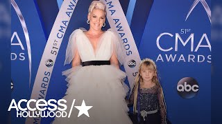 Pink Wins The 2017 CMAs Red Carpet With Her Daughter Willow | Access Hollywood