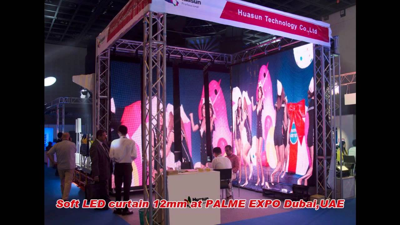Led curtain concert - Flexible Led Display Screen For Dj Stage Concert Event Background Yaya Huasuny Com Youtube