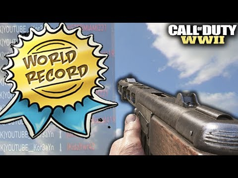 *NEW* WORLD RECORD in Call of Duty: WW2