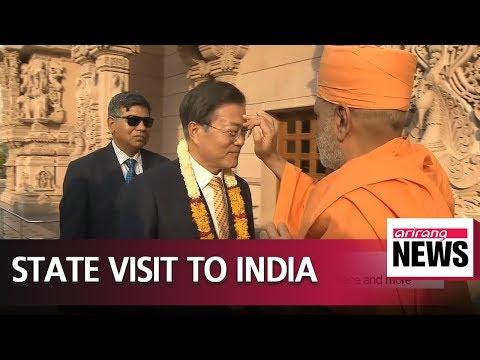 South Korean Pres. Moon kicks off India state visit; economic ties in focus