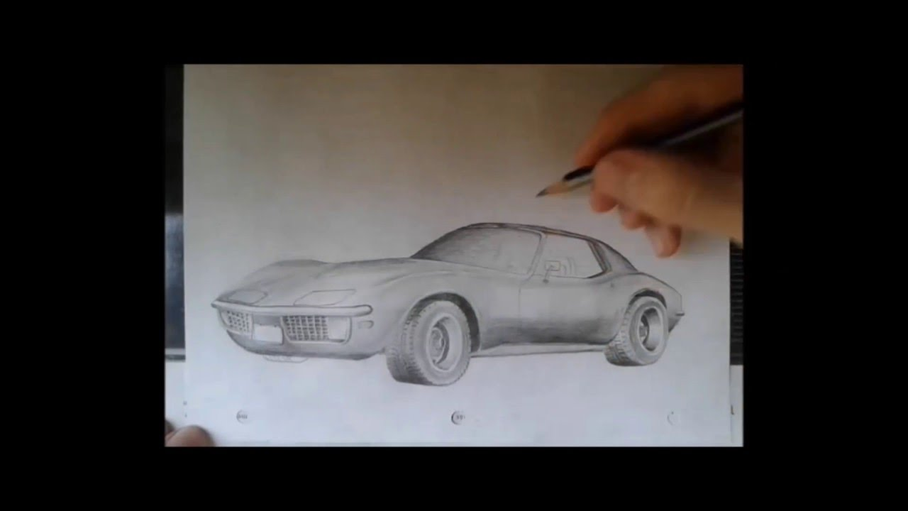 Como dibujar un auto ( Chevrolet Corvette Stingray 1970) - YouTube