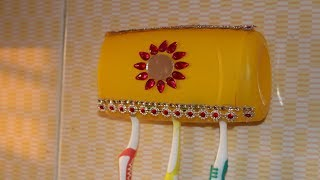 DIY # Amazing! ideas || DIY ideas for toothbrush holder | Waste out of best - DIY home projects