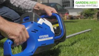 Hyundai 36V Cordless Hedge Trimmer with Battery and Charger