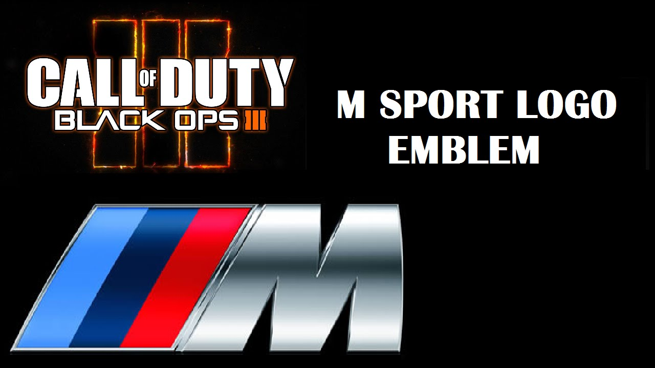 bmw m sport logo call of duty black ops 3 emblem editor youtube. Black Bedroom Furniture Sets. Home Design Ideas
