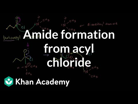 Amide formation from acyl chloride | Carboxylic acids and derivatives | Khan Academy