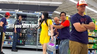 """THE POOTER - Farting on People of Walmart - """"Did you just FART in his face?"""""""
