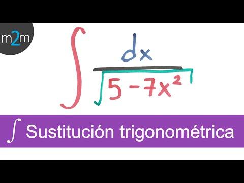 Integración por sustitución trigonométrica │ ejercicio 1