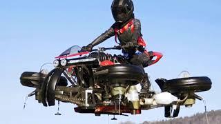 Летающий мотоцикл с движком Maserati - До чего дошёл прогресс