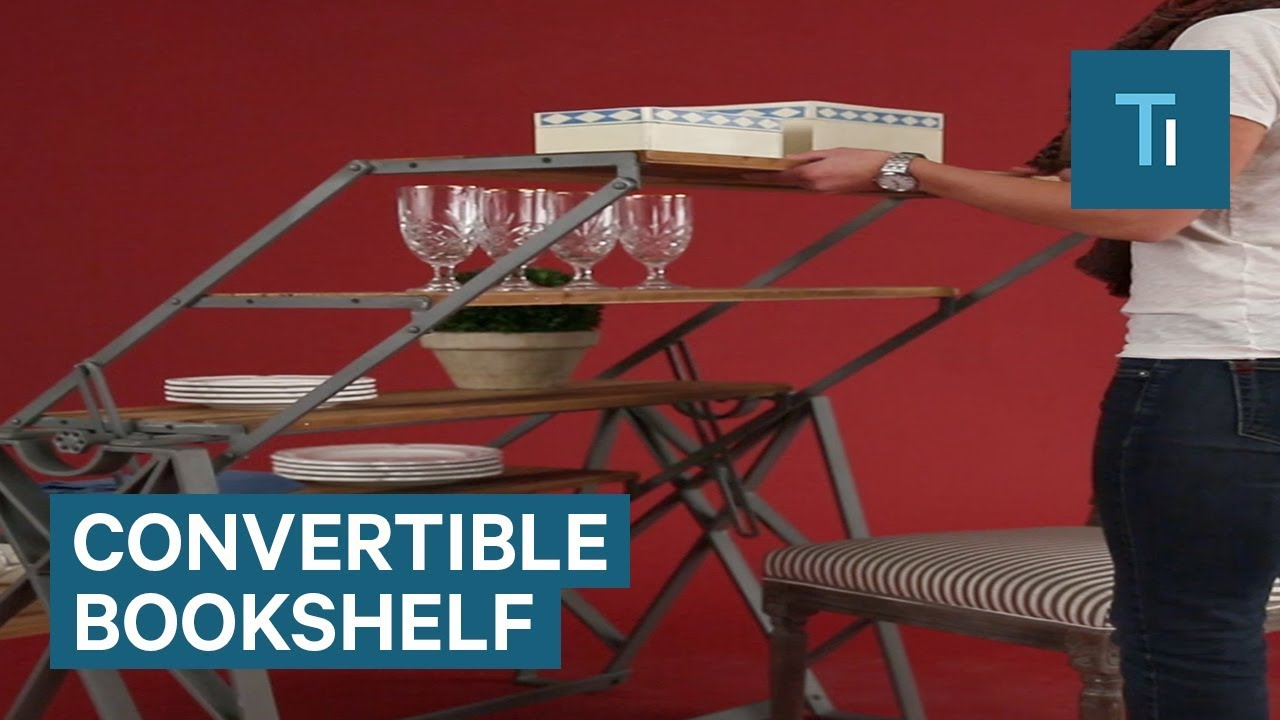 Bookshelf Converts Into A Table For Ultimate Style And Storage