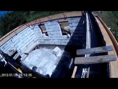видео: Строительство дома из газобетона 4. Армопояс