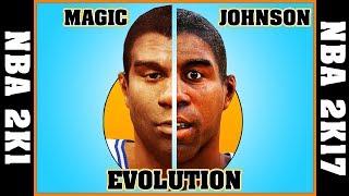 EARVIN MAGIC JOHNSON evolution [NBA 2K1 - NBA 2K17] 🏀