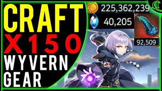 Crafting Wyvern Gear x150 (KEEP or SELL?) Epic Seven Craft Epic 7 Speed E7