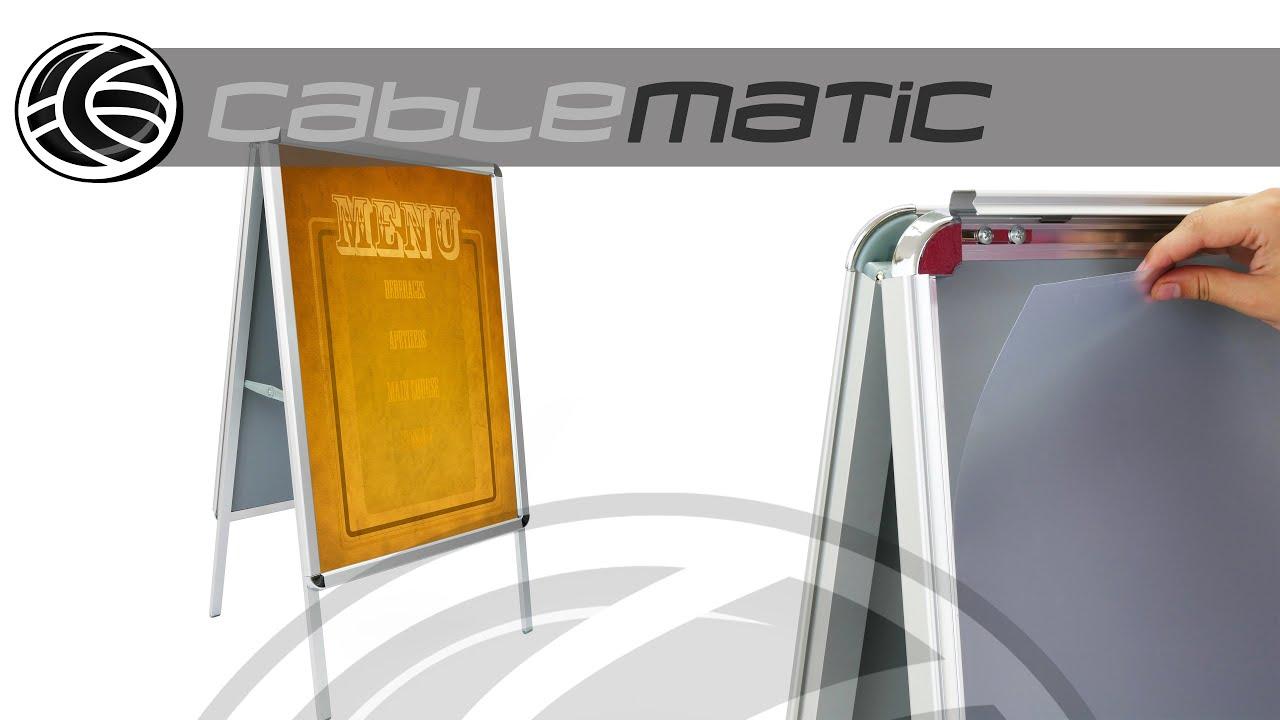 Panel valla publicitaria de doble marco a1 635x885mm tipo caballete distribuido por cablematic - Vallas decorativas ...