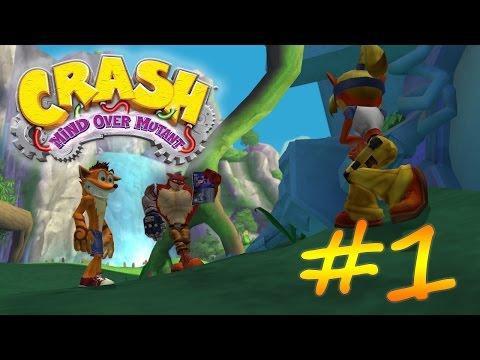 Прохождение Crash: Mind over Mutant (PS2) #1 - Ищем части мощнотрона