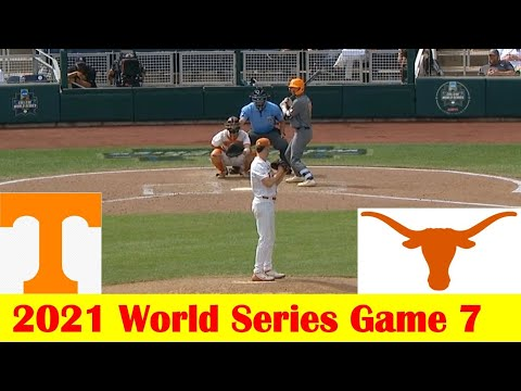 Download #3 Tennessee vs #2 Texas Baseball Game Highlights, 2021 World Series Game 7