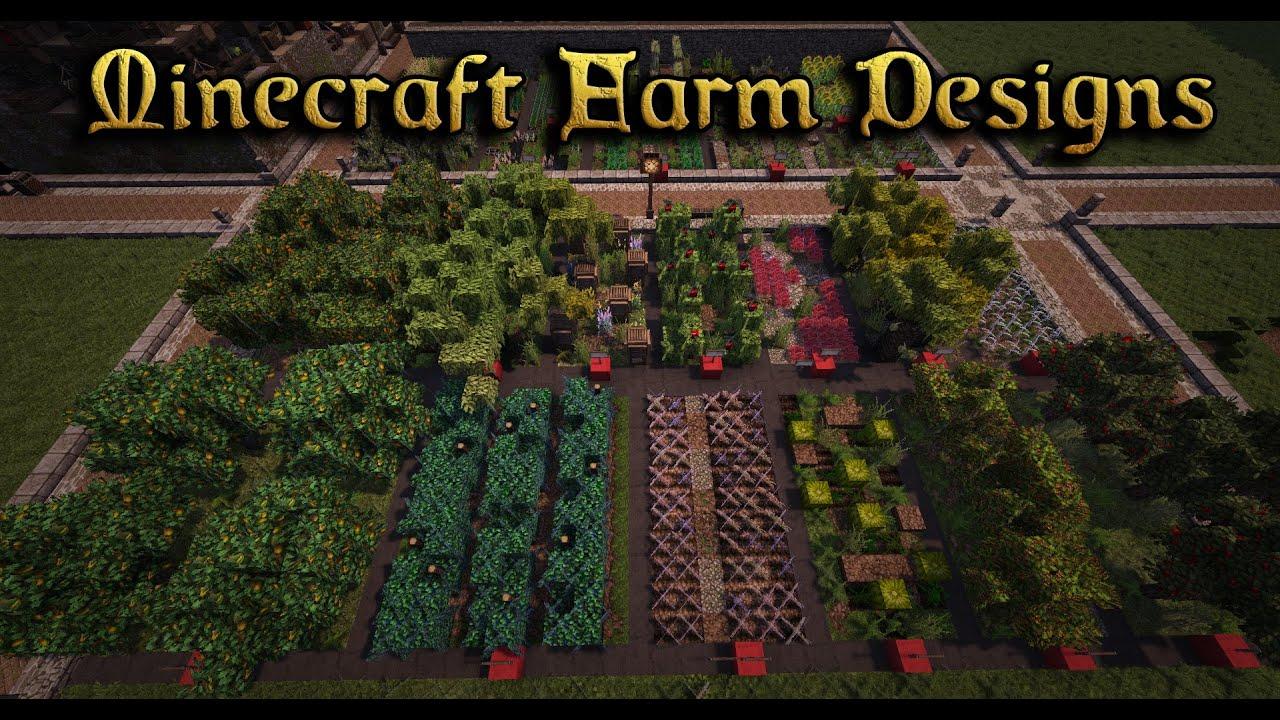 Minecraft Farm  Multiple Designs
