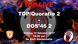 TOP/Quoratio 2 tegen DOS'46 2, vrijdag 10 februari 2017