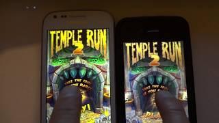 Temple Run 2   Iphone 4 VS Galaxy S Duos S7562