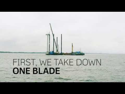 Do you want to watch the decommission of an offshore wind turbine?