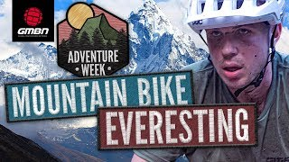Mountain Biker Attempts The Everest Challenge! | Climbing Mount Everest's Total Elevation